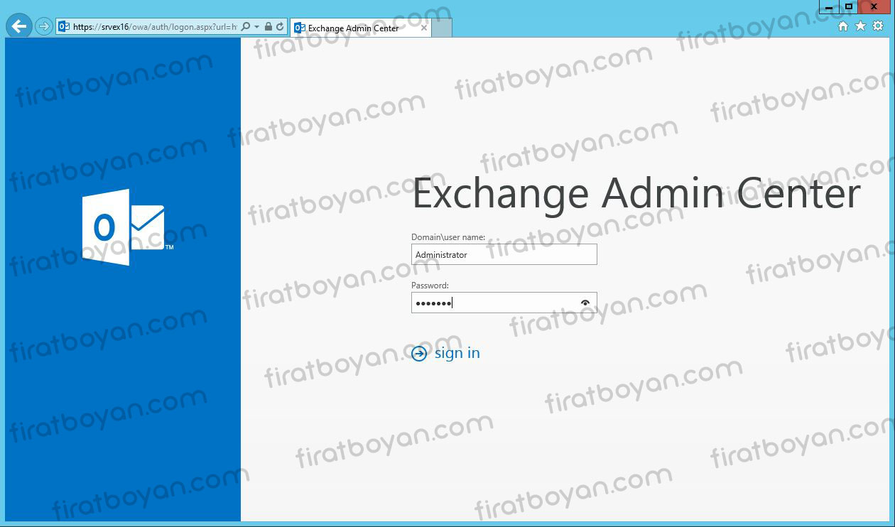 exchange server 2016 local ssl sertifika