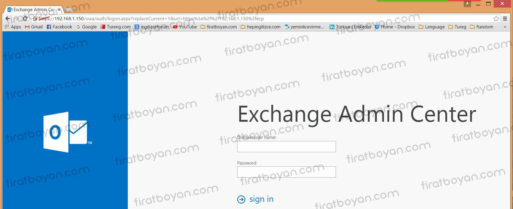 exchange server 2016 local ssl sertifika