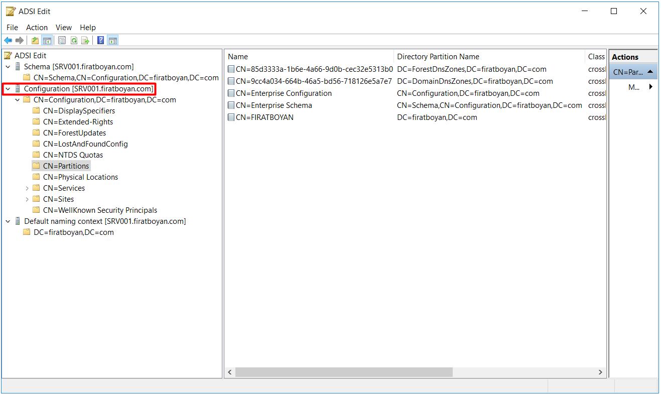 ADSI Edit Configuration