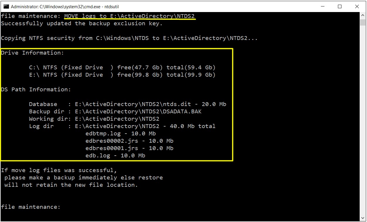 ActiveDirectoryDB_LOG_Tasima