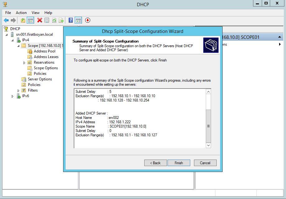 DHCP Server Split Scope