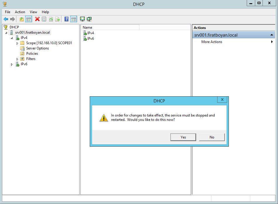 DHCP DATABASE BACKUP, RESTORE ve PATH değiştirme.
