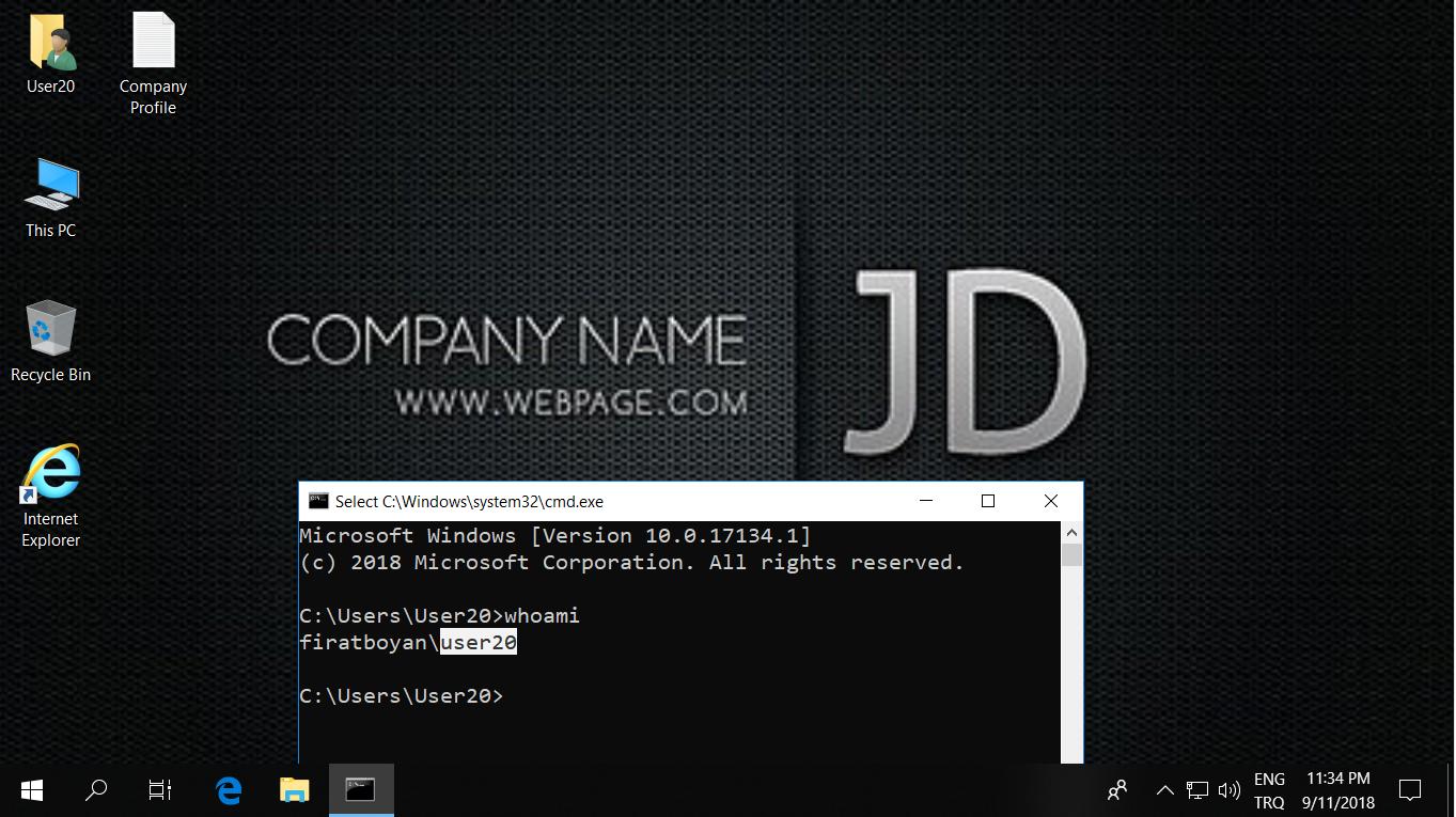 Domain Default Profile