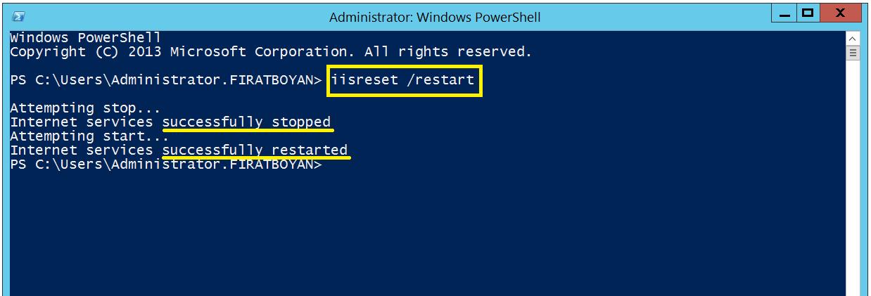 Exchange Server 2016 HTTP500 Internal Server Error Hatası