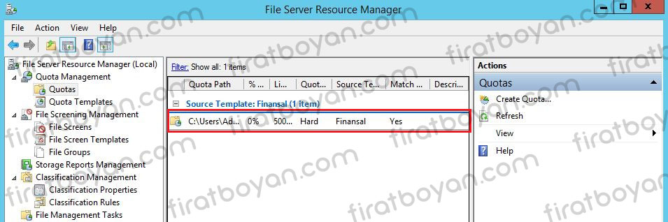 file server quota management