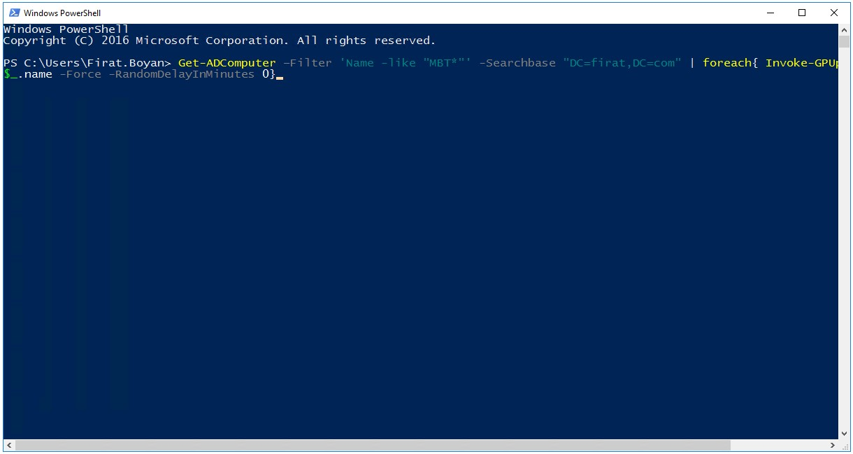 PowerShell ile Uzaktan Group Policy Force Etme