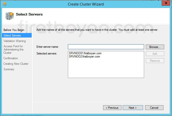 Windows Server 2012 Hyper-V Failover Cluster Kurulumu