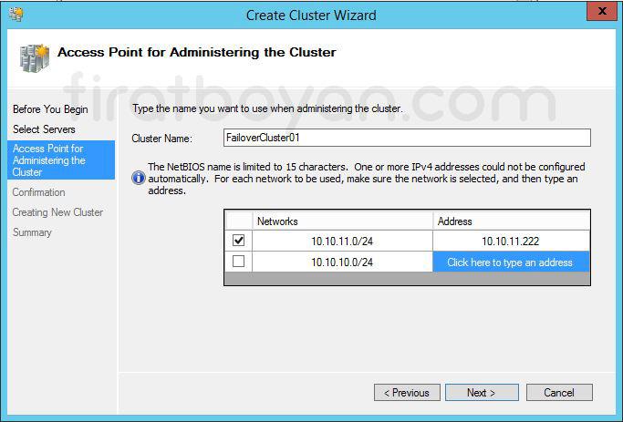 Windows Server 2012 Hyper-V Failover Cluster Kurulumu