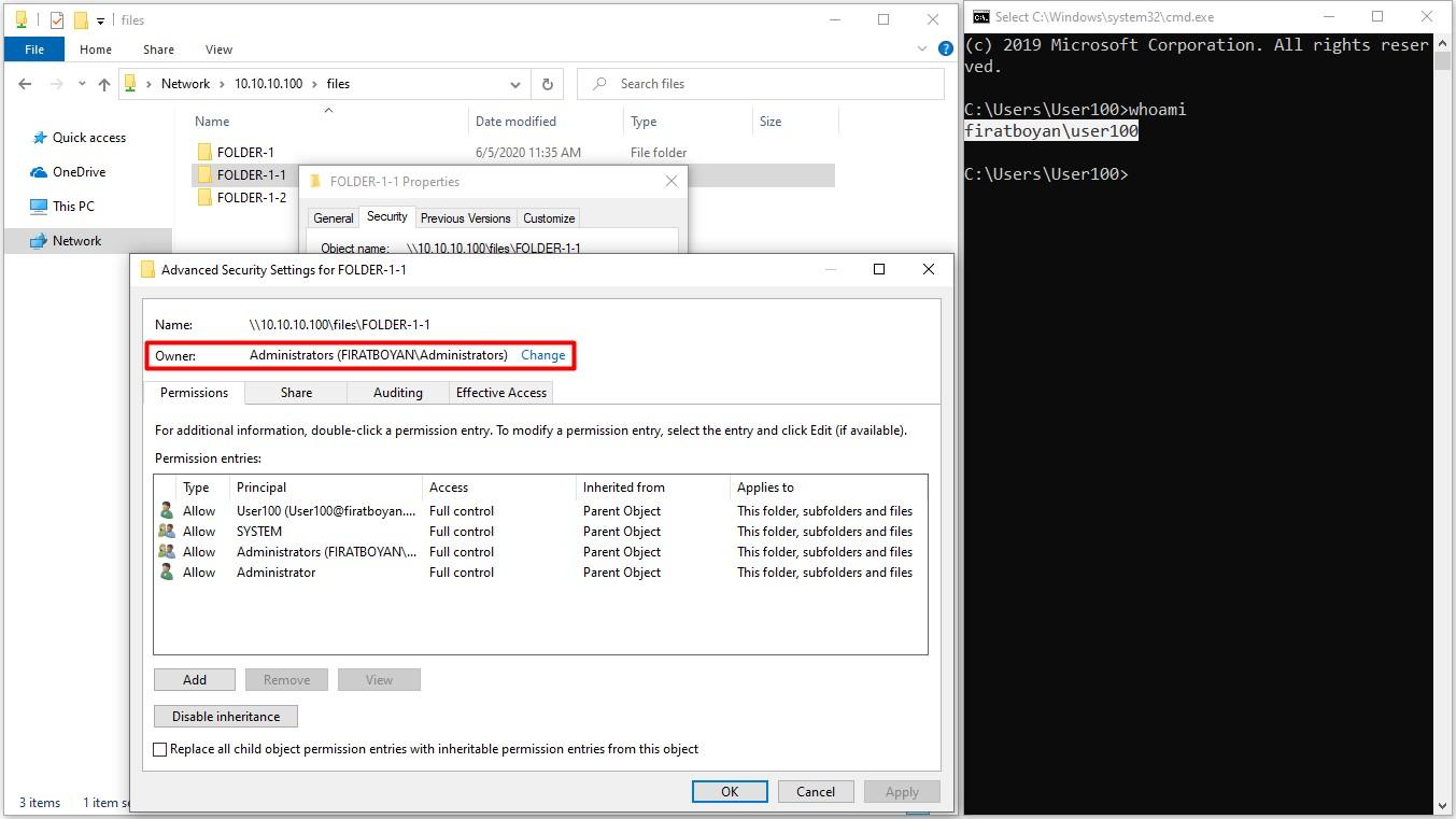 NTFS (New Technology File System) İzinleri (Security Permissions)