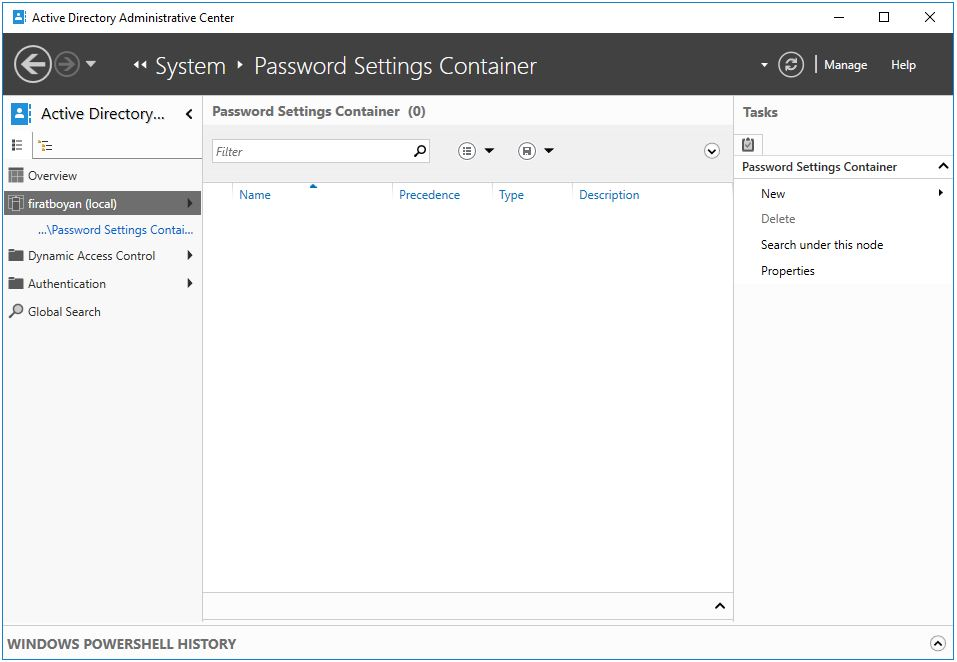 PowerShell İle Fine Grained Password Policy (FGPP) Oluşturma