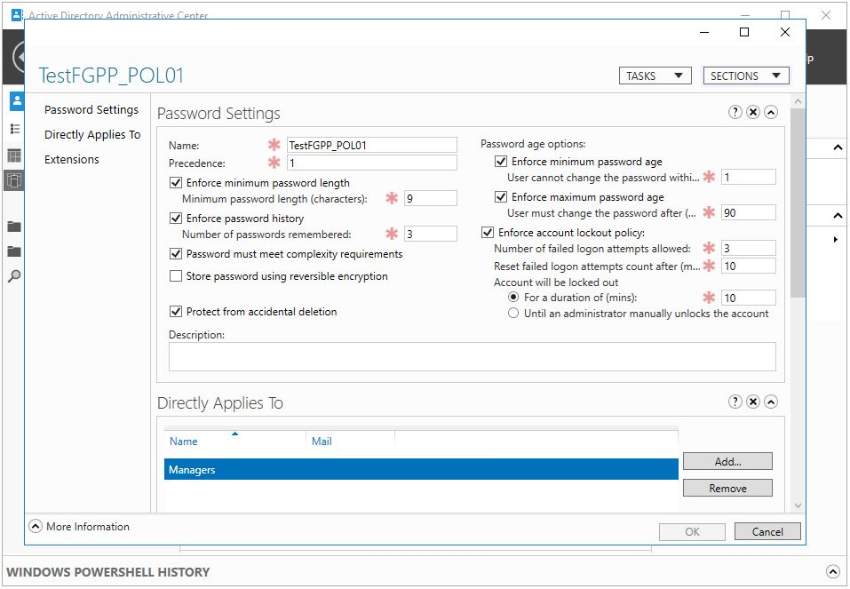 PowerShell İle Fine Grained Password Policy (FGPP) Oluşturma
