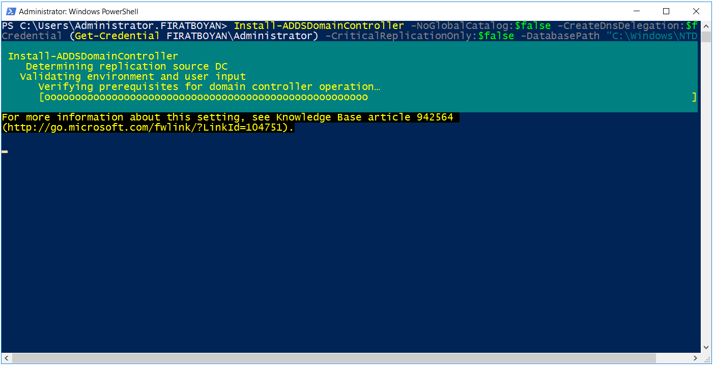 powershell ile additional dc kurulumu