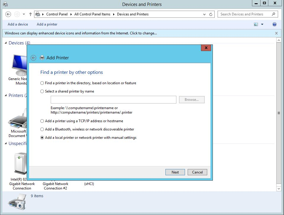 Print Server Kurulum,Yapılandırma ve Yazıcı Yönetimsel Ayarlar