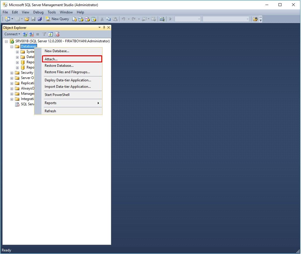 sql server database log dosyası temizleme, küçültme
