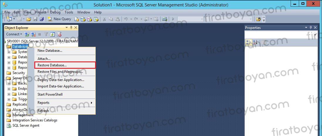 SQL Database Restore