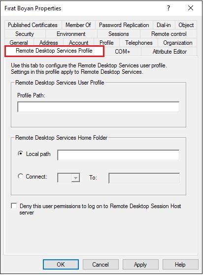 Active Directory Kullanıcı Özelliklerinin İncelenmesi