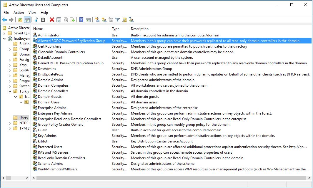 Active Directory Kullanıcı Özelliklerinin İncelenme