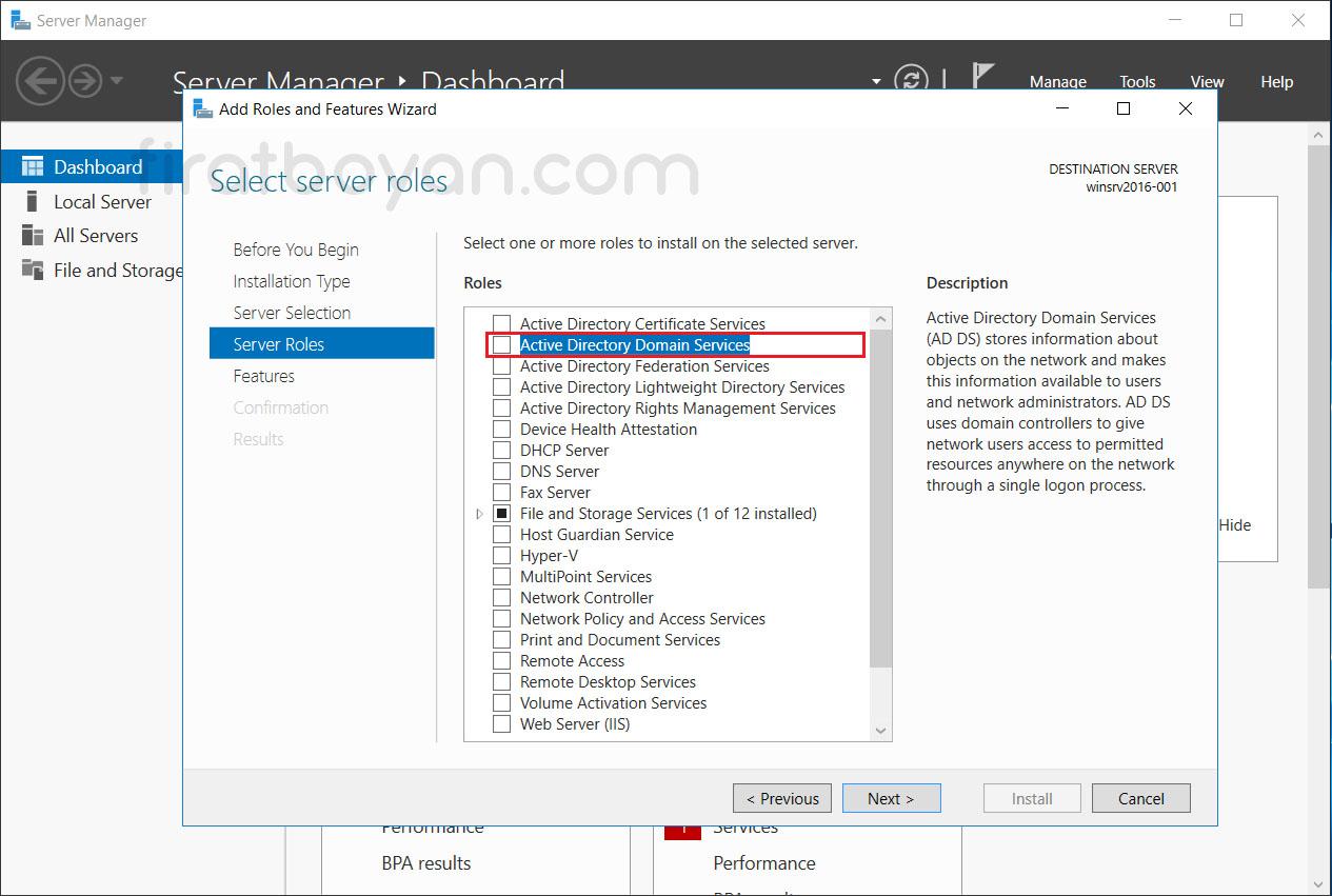 Windows Server 2016 Active Directory Domain Controller Kurulumu
