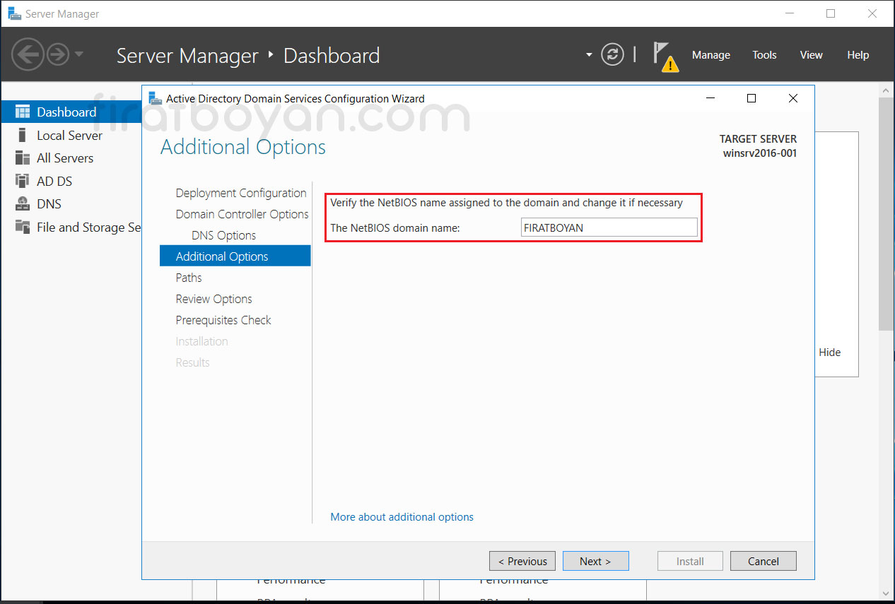 Windows Server 2016 Active Directory Domain Controller Kurulumu