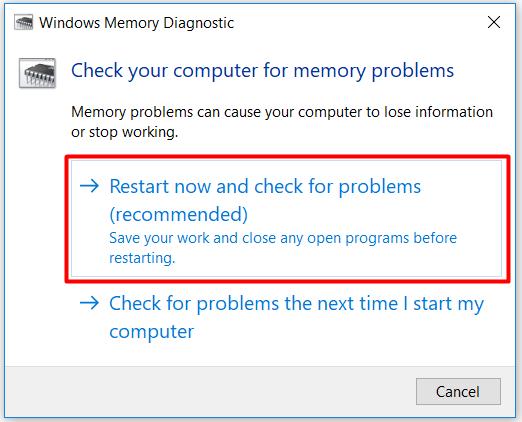 Windows 10 ram testi