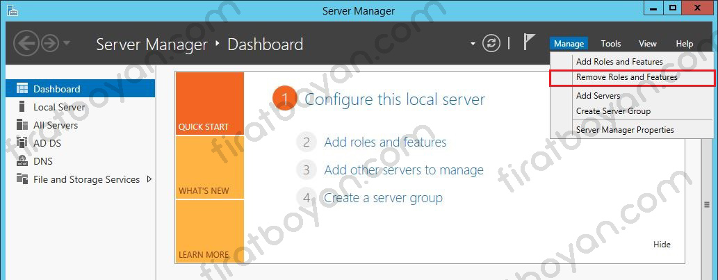 active directory removal