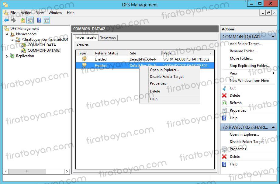 Distributed File System (DFS) Kurulum ve Yapılandırma