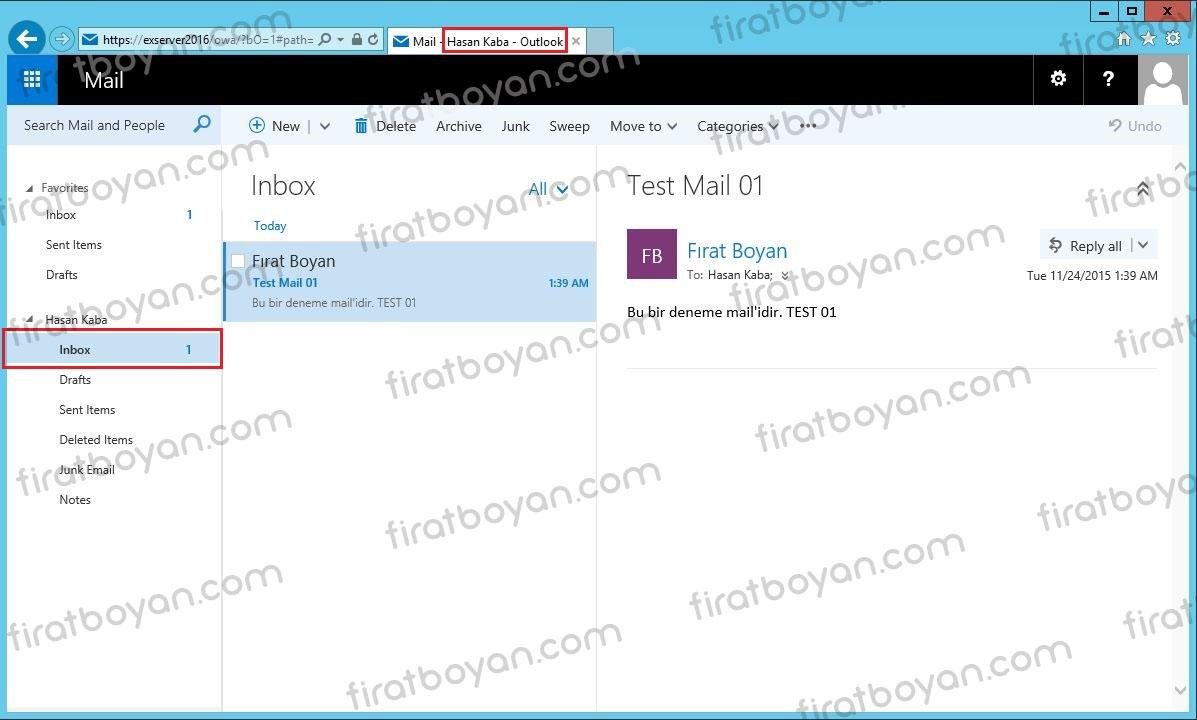 user mailbox