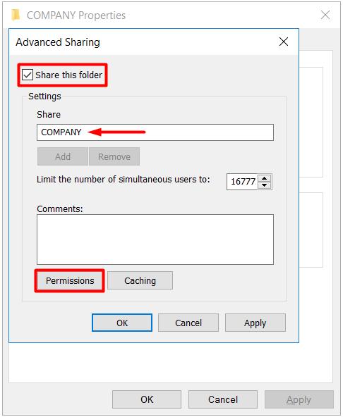 sharing permissions-paylaşım izinleri