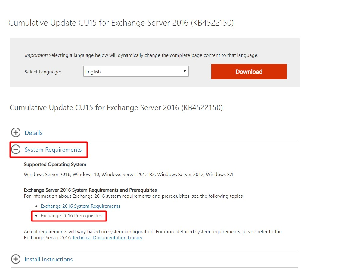 Exchange Server 2016 Cummulative Update (CU) 15 Yayınlandı.