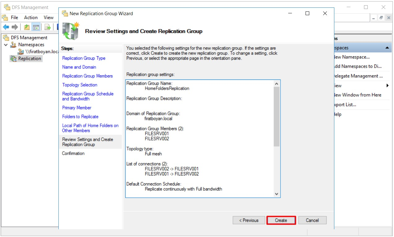 DFS High Availability Configuration