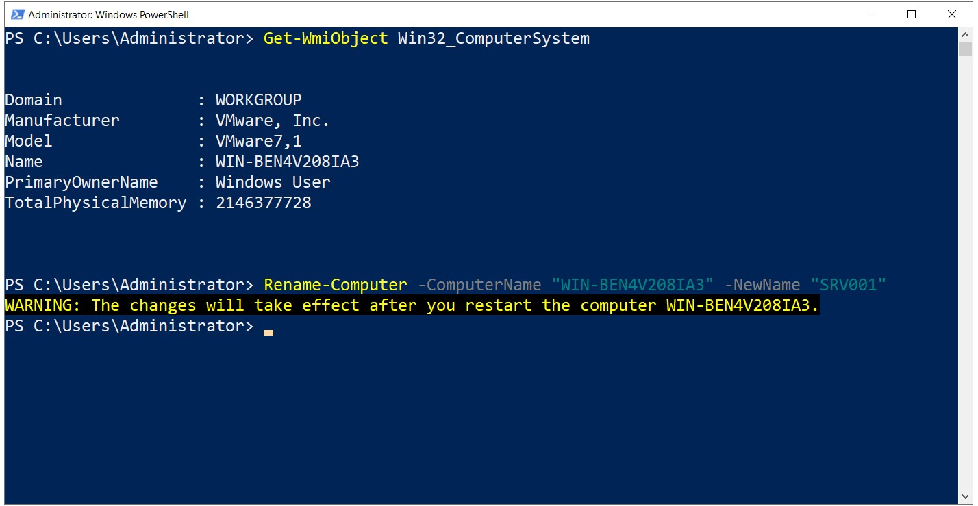 Installation of Active Directory 2019 with Powershell